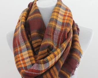 Blanket Infinity Scarf, Plaid Blanket Scarf, Blanket Scarf, plaid blanket scarf, blanket scarf plaid, scarf blanket, oversized scarf