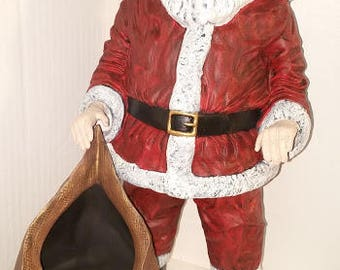 Large draped Santa with Toy Bag