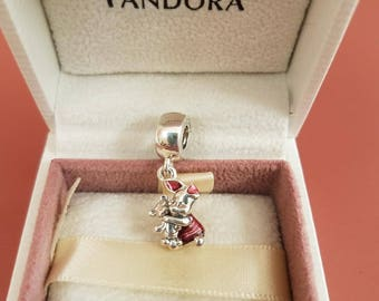 Authentic pandora Disney piglet dangle charm 792134EN117 sterling silver 925 ale new