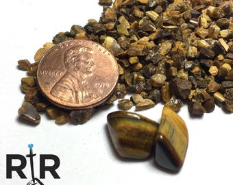 Crushed Tiger's Eye - Extra Large Sand - 100% Natural Without Fillers