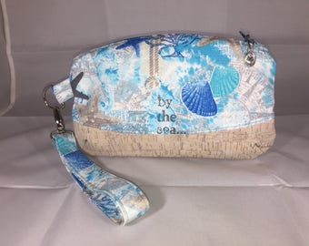 By the Sea Wristlet. Clematis pattern by Blue Calla