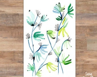 Watercolor Plant Wall Art, Botanical Art, Watercolor Art, Watercolor Painting, Home Decor
