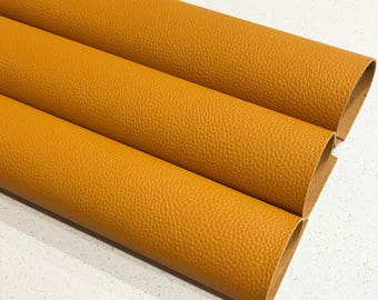 New Stock Mustard Thick Textured Leatherette Sheet 1.2mm Thickness A4 or A5 Size Faux Leather Fabric Mustard B