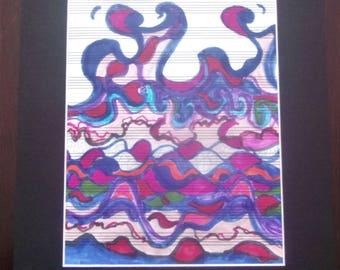 """Take Five matted 11""""X14"""" art print"""