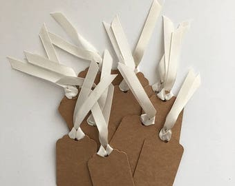 ON SALE Gift bag tags - kraft - gift tags - tags #41603