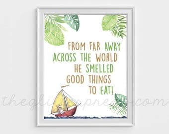 """He Smelled Good Things to Eat, 8""""x10"""" Where the Wild Things Are Birthday Printable Party Food Sign Decor, INSTANT DOWNLOAD"""