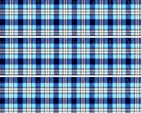 Blue Plaid Birthday - Designer Strips - Edible Cake Side Toppers- Decorate The Sides of Your Cake! - D22725