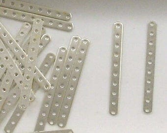 Sterling Silver 2mm 10 Hole Separator Bar Finding