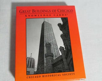 Great buildings of Chicago Knowledge cards, Chicago History Museum, 48 card pack, New