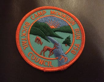 BSA 1979 Camp Mountain Run Ducktail Council patch