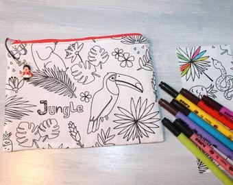 Kit for kids, washable, practical and unique, pattern alphabet letters