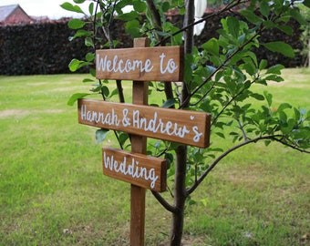 Personalised Hand painted any colour - welcome to our wedding sign