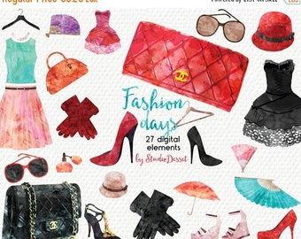 80% OFF - LIMITED TIME - Fashion Cliparts Watercolor, Beauty Illustrations, High Heels Clipart Shoes, Fashion Clipart Graphics for Personal