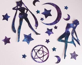 Sailor Moon style, Galaxy Sticker Pack