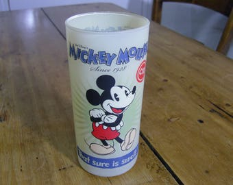Vintage Mickey Mouse Glass