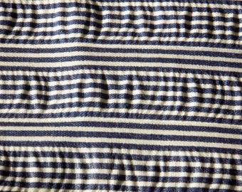 Blue and white stripped vintage fabric