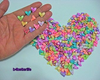 365pcs 1/2 Inch Tiny 3D Origami Hearts LOVE. (AV paper series). #FOH-100.