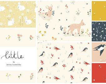 FAT QUARTER Bundle- Little, Organic Fabric- Birch Fabrics, Certified Organic Cotton, Eight Prints