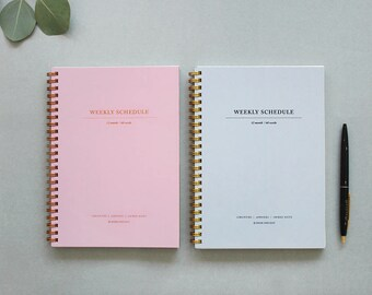 Academic Monthly & Weekly Planner [ Warm Grey / Indi Pink ] / Journal / Diary / Agenda / 101796464