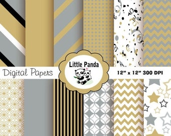 60% OFF SALE New Years Digital Paper Pack, Scrapbook Papers, 12 jpg files 12 x 12  - Instant Download - D147