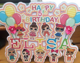 Lol surprise dolls birthday, Lol surprise dolls card, Lol surprise dolls Party, birthday card, LOL surprise dolls, Lol surprise dolls