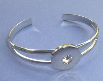 Silver Bangle Snap It Bracelet for Snap-It Charms