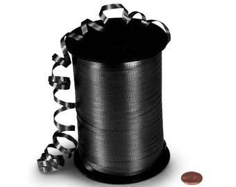 Black Ribbon 500 yards Black Curling Ribbon Balloon Ribbon Gift Wrap Ribbon Black Crimped Ribbon Craft Ribbon