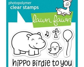 "LAWN FAWN-Clear Stamp 3"" x 2""- Year Four"