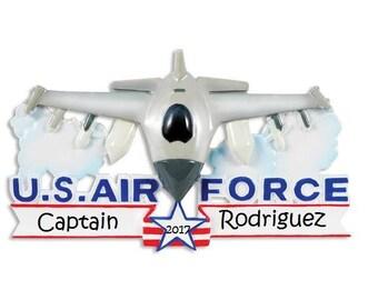 Custom Air Force Ornament, Cute Armed Forces Ornament, Custom Military Ornament