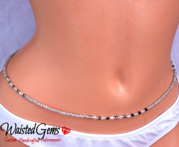 Grey Nights Waist Beads, Belly Chain, Body Beads, Summer Party, Summer, beach wear, Back to school, waist beads zmw4434.9