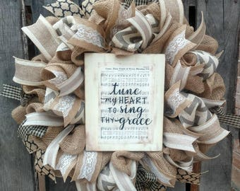Come Thou Fount Hymnal Wreath