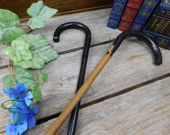 Set of 2 Vintage Canes or Walking Sticks - Woman's Canes