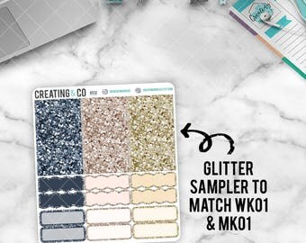 Faux Glitter Functional Sampler to match Forever My Always - GS01