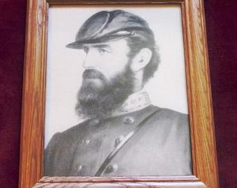 Civil War Art, Portrait of Confederate General Stonewall Jackson on Canvas.1906