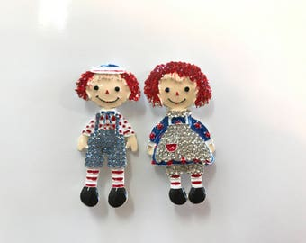 Raggedy Ann and Andy Needle Minder