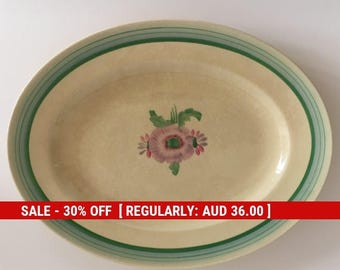 Clarice Cliff Sundew Medium Oval Serving Plate No 7159