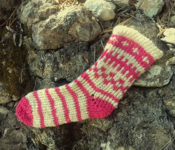 Hand Knitted Hand Spun Merino / microfiber  Socks Cozy Warm Luxury Material Unique Feeling
