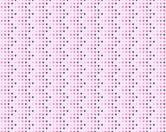 Zig Zag Hearts Patterned Printed Vinyl - HTV or Permanent Glossy or Permanent Matte
