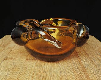 Vintage Murano Glass Pipe Ashtray