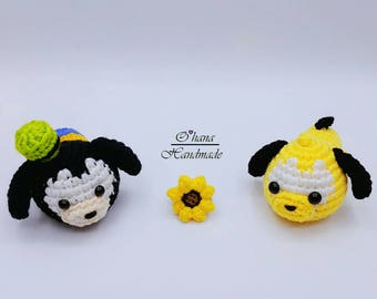 Baby Pluto and Baby Goofy pattern