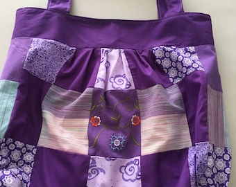Handmade Purple Patchwork Shoulder Bag