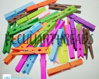 Extra Set - Colored Clothespins, Clothespins, Multi-Color, Painted, Wood Sign, Wall Hanging, Classroom, Back to School, Teacher Appreciation