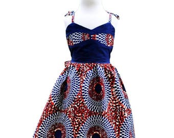 Molly girl's dress in African print