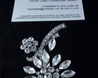 George Michael Tribute Brooch, Last Christmas, by Enticier Ltd.
