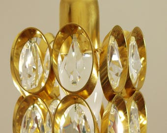 ORREFORS, 2 little Crystal Chandeliers, lamp, Sweden, Vintage, 60s, Midcentury