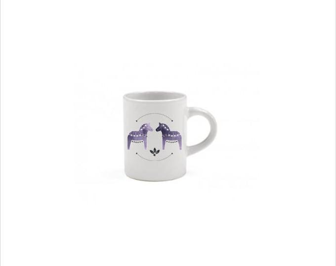 Purple Dala Horse Espresso Mug