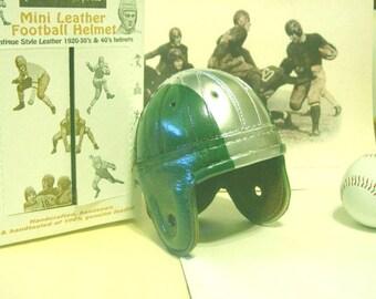 1940 Mini Philadelphia Eagles Leather Football Helmet (1/3 scale)