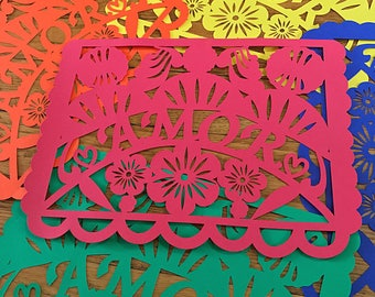 Amor Pattern - Papel Picado/ Love Banner