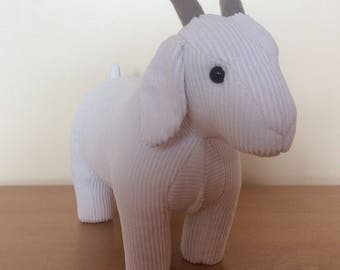 Gordon, an adorable goat doorstop/bookend/soft sculpture