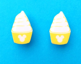 "Fun In the Sun Collection ""Hidden Mickey Dole Whip"" Dole Whip Inspired Disneyland Food Jewelry Earrings"